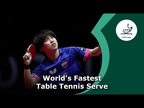 World's Fastest Table Tennis Serve