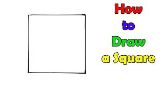 How to Draw a Square - VERY EASY - FOR KIDS