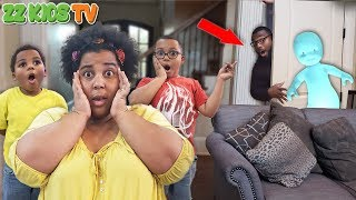 """""""Ghost Dude"""" Caught on Camera! (Will ZZ Dad Make It out?) 👻😱"""