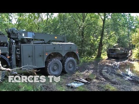 Getting Unstuck: How The British Army Keeps Military Vehicles Moving | Forces TV