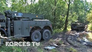 What happens when a military vehicle gets stuck in the field? If yo...