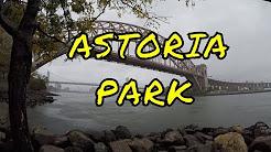 ⁴ᴷ Walking Tour of Astoria Park, Queens, New York City in the Rain
