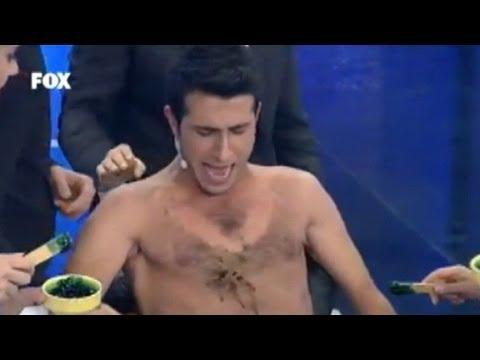 Turkish Game Show's Painful Karaoke: Waxing, Spiders