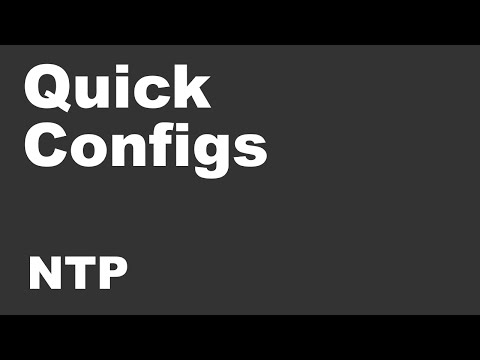 Quick Configs - NTP (peers, Clients, Master, Auth, Access, Broadcast, Multicast)