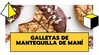 GALLETAS DE MANTEQUILLA DE MANI Y CHOCOLATE | DELICIOSAS, SALUDABLES Y FÁCILES DE PREPARAR | THE CL