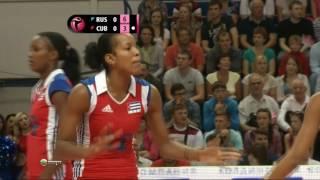 Волейбол  Девушки   Россия Куба  11 08 2013  Багга