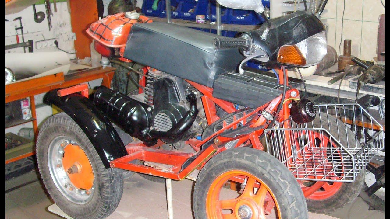 самодельный детский квадроцикл из скутера (рестайлинг)