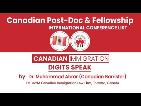 Canadian Post-Doc & Fellowship - International Conferences - For PhD Scholars And Faculty Members
