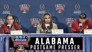 Hear what Nick Saban had to say following Alabama's 24-6 win over Clemson in the CFP semifinal