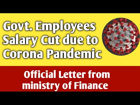 Govt. Employee Salary Cut | Official Letter from Ministry of Finance | Post affect of COVID-19 |
