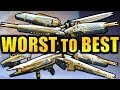 Destiny 2 WORST To BEST Leviathan Raid Weapons mp3