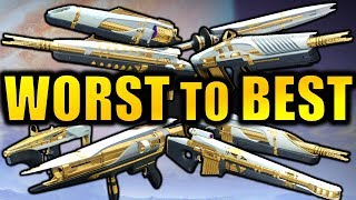 Destiny 2: WORST to BEST Leviathan Raid Weapons!