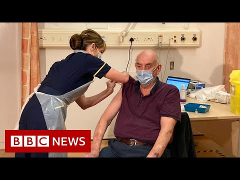 Covid: First Oxford dose given to 82-year-old man - BBC News