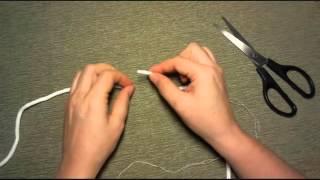 Как соединить хвостики шнура при вязании ковра