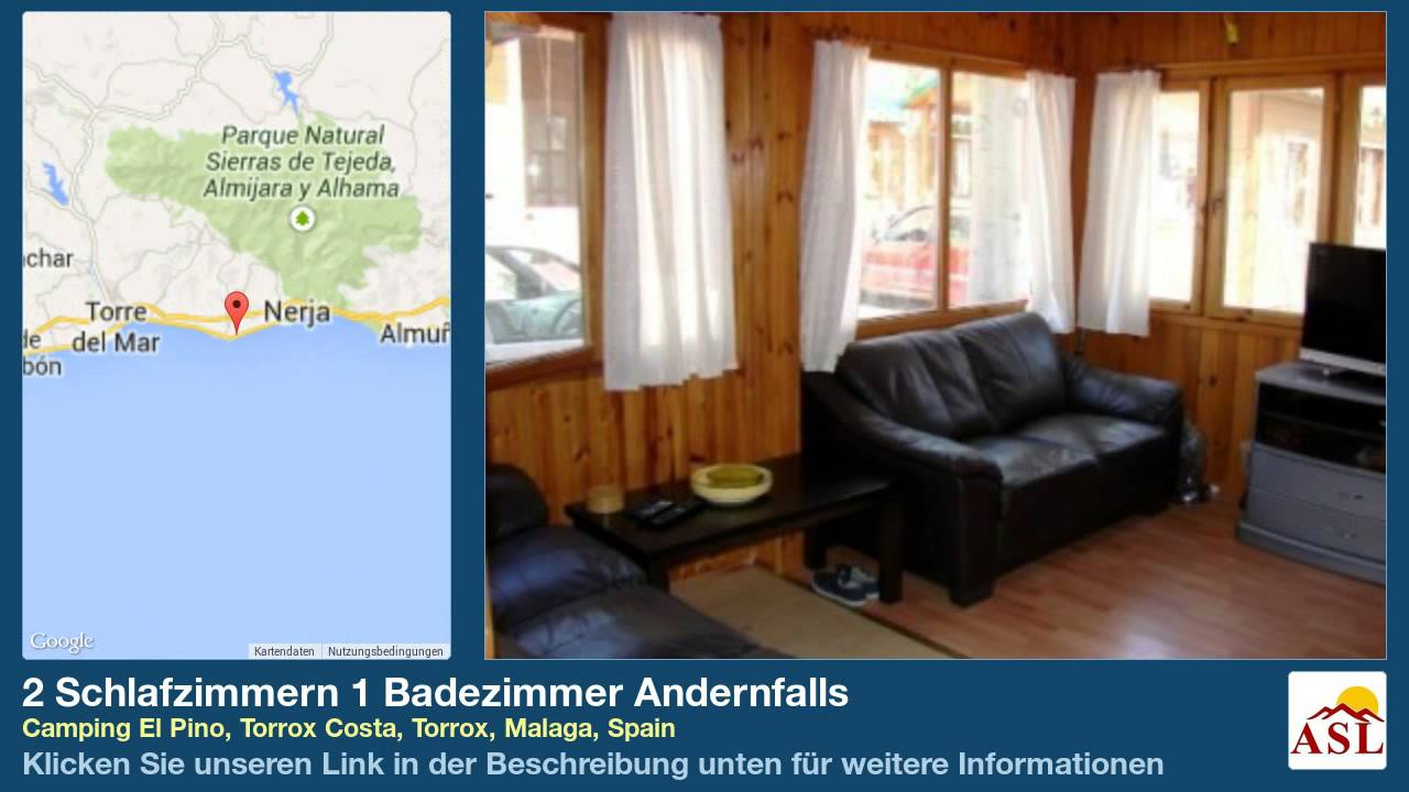2 schlafzimmern 1 badezimmer andernfalls in camping el pino torrox costa torrox malaga youtube. Black Bedroom Furniture Sets. Home Design Ideas