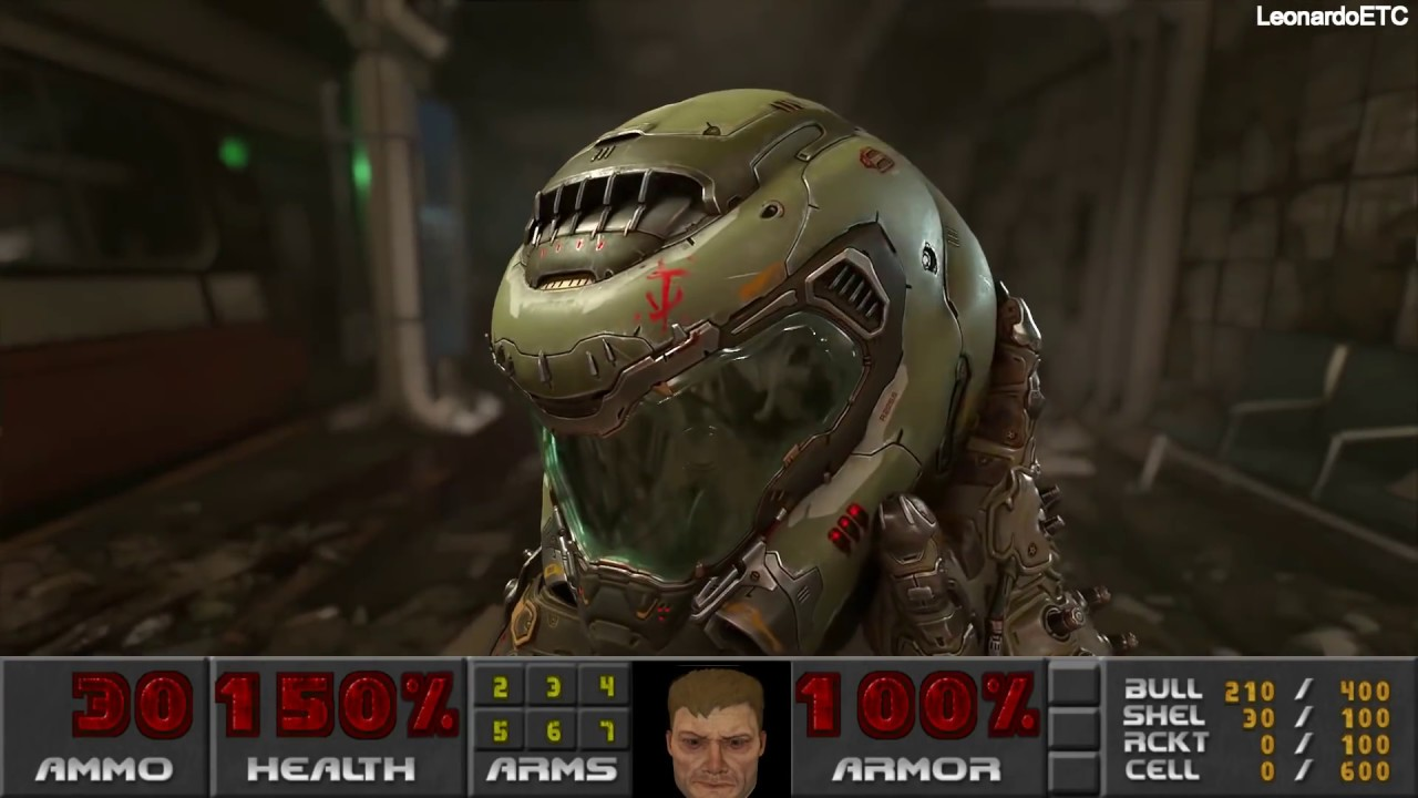 doom guy face hud