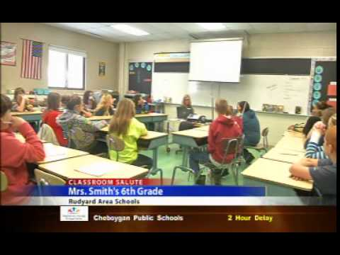 Classroom Salute- Mrs Smith's 6th Grade at Rudyard Area Schools