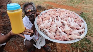 Delicious!!!! CHICKEN GHEE ROAST Prepared by my DADDY Arumugam / Village food factory