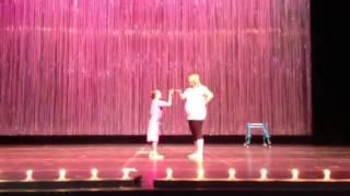 Rachel's dress rehearsal for her hip hop dance recital - she has cerebral palsy!!!!