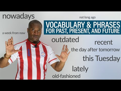 TIME Vocabulary & Phrases in English: recently, outdated, of late, nowadays...