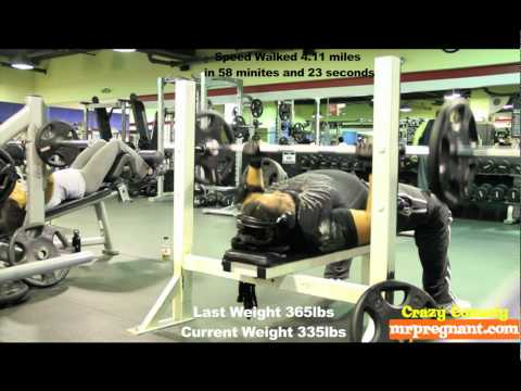 Fat To Fitness - Episode 1 - Benchpress 135 lbs  30 Reps