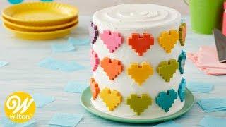 How to Make a Rainbow Candy Hearts Cake | Wilton