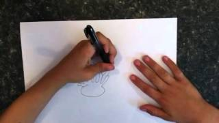How to draw a sea anemone