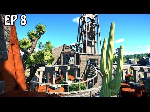 Garnet Mine Station | Planet Coaster Gameplay | Wooden Coaster
