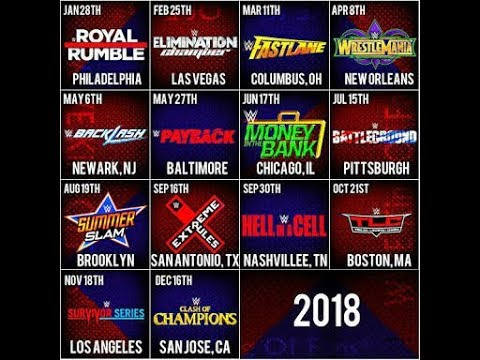 All The Upcoming WWE PPV [PAYPER VIEW] 2018 With Location of Event,Date of  events Etc