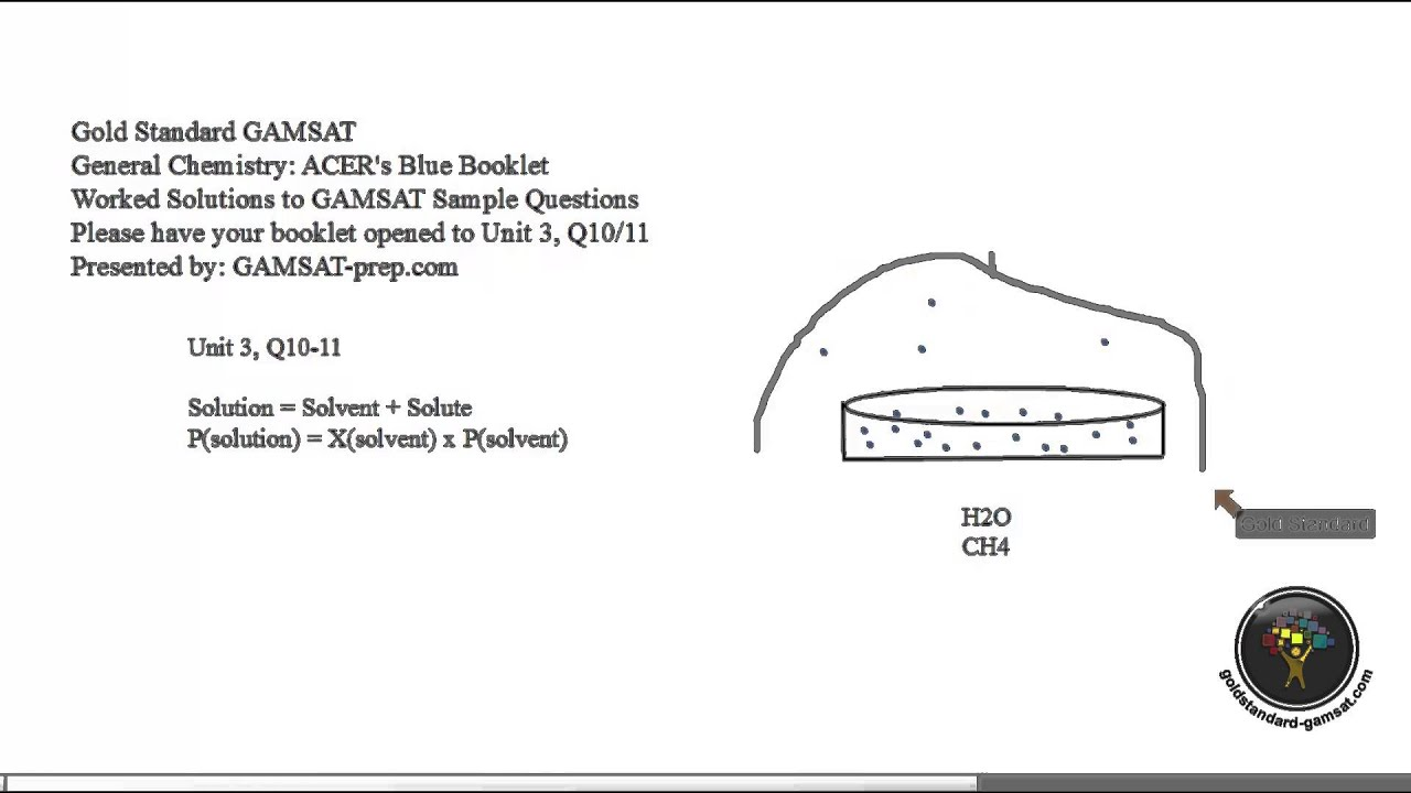 Acer Gamsat Sample Questions Booklet Unit 3 Q 10 11 Answers With