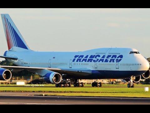 Transaero B747 Landing at Dublin Airport