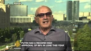 Despite isolation of Russia, Putin enjoys popularity