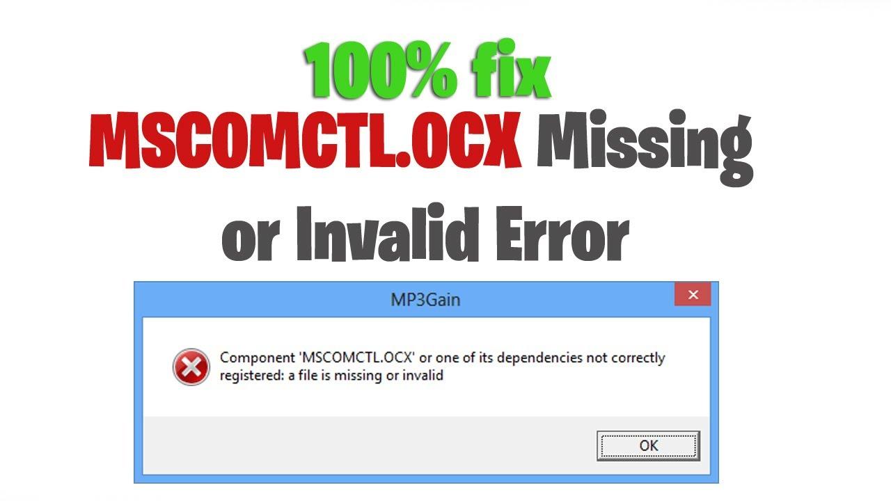 tabctl32 ocx missing windows 10