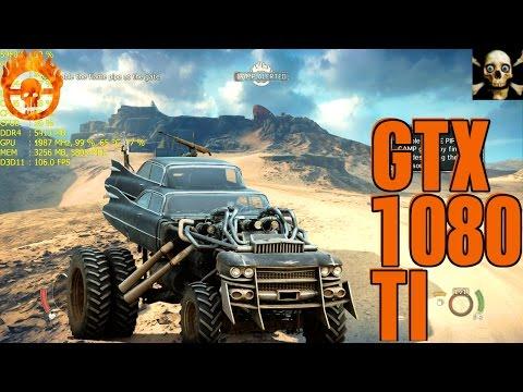 Mad Max 4K UltraHD Gtx 1080 TI Fps Performance Maximum Settings!!
