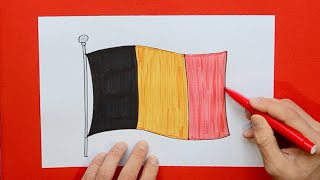 How to draw and color the National Flag of Belgium