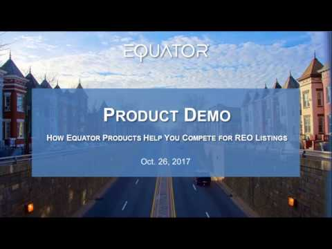 Equator Live Demo Session - Oct. 26, 2017