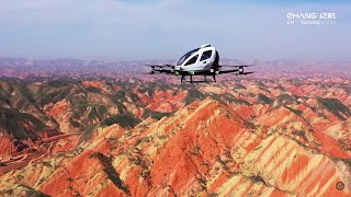 EHang 216 Autonomous Aerial Vehicle · Aerial Sightseeing│Air Mobility│EHang
