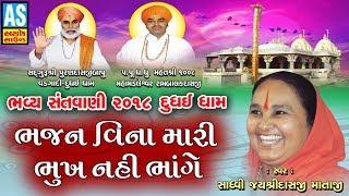Bhajan Vina Mari Bhukh Nahi Bhange || Jayshree Mataji Live Bhajan || Dudhai Dham Bhavya Santvani