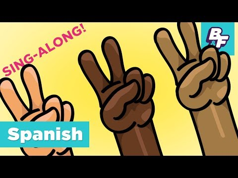 Learn To Say Hello In Spanish Sing-Along Song | BASHO & FRIENDS 4k Learning | Hola, amigo