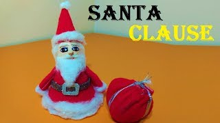 how to make santa clause with shuttle cock 4 christmas