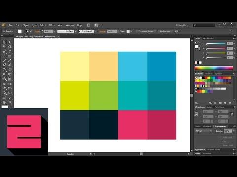 Custom Color Swatches in Adobe Illustrator Tutorial, ZipUp