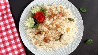 বাবুর্চি স্টাইলে বিয়ে বাড়ির পোলাউ || Plain Polau Recipe Bangla || Biye Barir Polao || Pulao