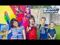Princess Lollipop has a Water Balloon Party with Kate, Lilly, and Friends! | Bunch o' Balloons!