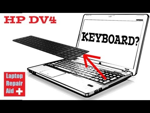 HP DV4 how to remove a keyboard