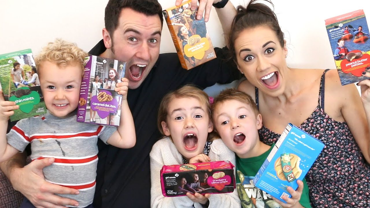 tasting girl scout cookies w colleen evans   youtube