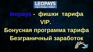 leopays   фишки  тарифа VIP  Бонусная система