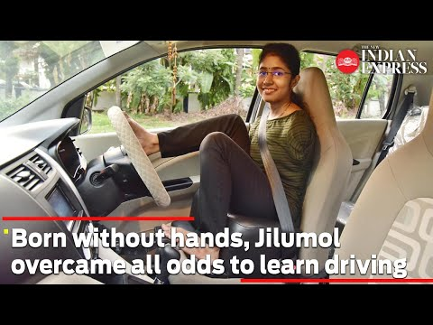 Born without hands, Jilumol overcame all odds to learn driving