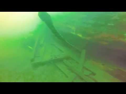 Scuba diving at Queens Bay B.C. capsized boat