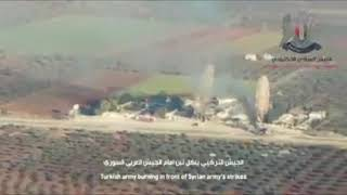FROM THE SYRIAN ARMY BOMBARDMENT IN TURKISH CONVOY NEAR SARAQIB IN IDLIB