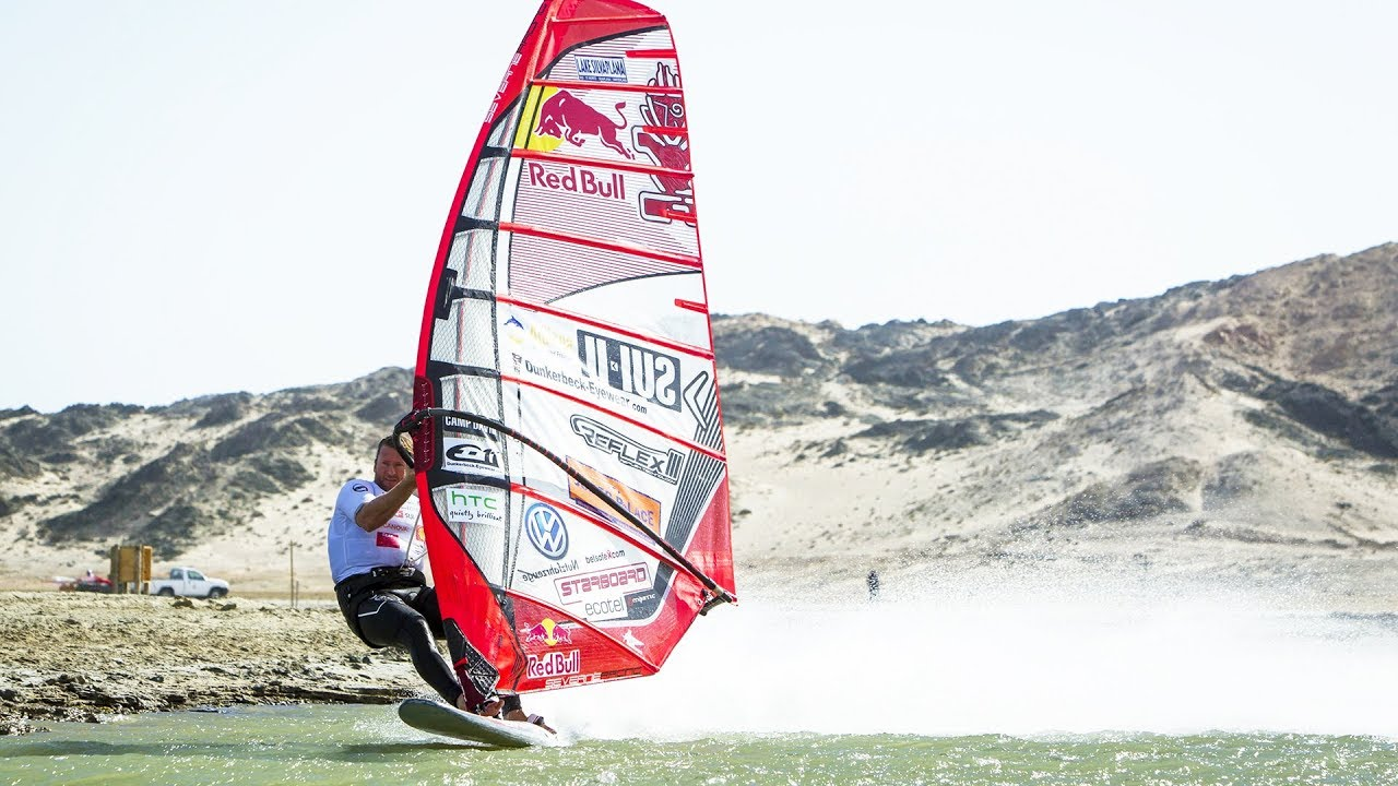 High speed windsurfing in Namibia /w Björn Dunkerbeck